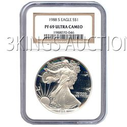 Certified Proof Silver Eagle PF69 1988
