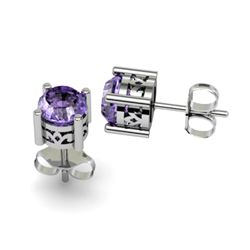 Tanzanite 2.00ctw Earring 14kt White Gold