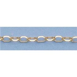"Pure Gold 16"" 14k Gold-Yellow 2.3mm Oval Link Chain"