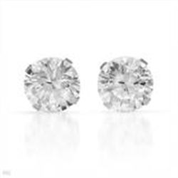 Stud Earrings Sterling Silver with 4.5 ctw Cubic Zirconia  New