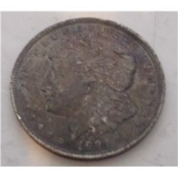 1921 Silver Morgan Dollar, Black Toned