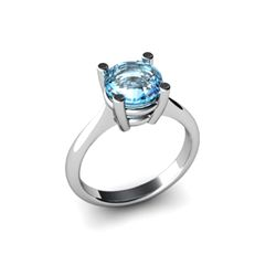Aqua Marine 1.60ctw Ring 14kt White Gold
