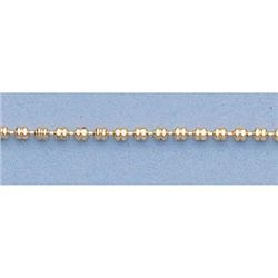 "Pure Gold 16"" 14k Gold-Yellow 1.3mm Double Bead Chain"