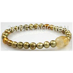 87.07ctw Natural Rice Freshwater Pearls Bracelet