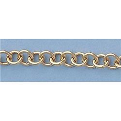 "Pure Gold 7"" 14k Gold-Yellow Rd Links Heart Bracelet 8g"