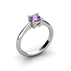 Amethyst 0.40ctw Ring 14kt White Gold
