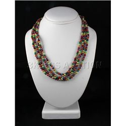Multi-color 320.04ctw Freshwater Pearl Necklace