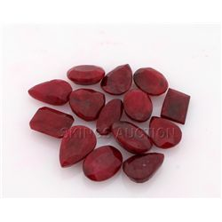 116.50ctw Ruby Mix Shape&Sizes LooseGemstone