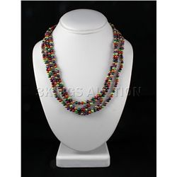Multi-color 324.90ctw Freshwater Pearl Necklace
