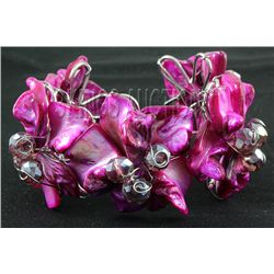 329.95CTW RASPBERRY SHERBET MOTHER OF PEARL BRACELET PH
