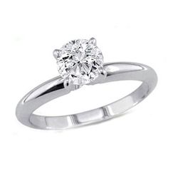 0.75 ct Round cut Diamond Solitaire Ring, G-H, VS