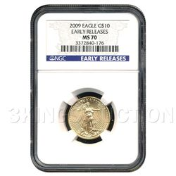 Certified $10 American Gold Eagle 2009 MS70 NGC