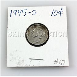 1945-S 10Cents Silver