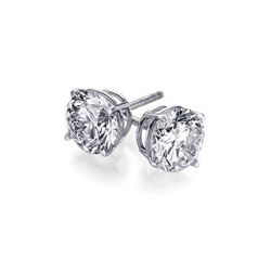 0.66 ctw Round cut Diamond Stud Earrings G-H, VS