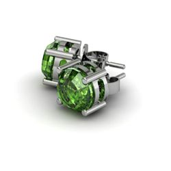 Tourmaline 4.00ctw Earring 14kt White Gold
