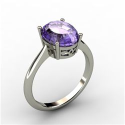 Tanzanite 3.50 ctw Ring 14kt White Gold