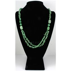 Chunky 435.44ctw Green Jade Beads Necklace