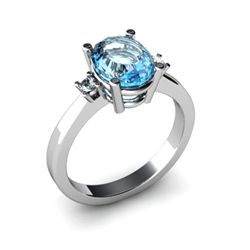 Topaz 2.50 ctw Diamond Ring 14kt White Gold