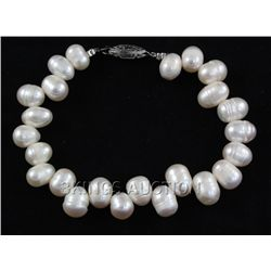 "277.68CTW 18"" WHITE FRESHWATER PEARL NECKLACE METAL LOC"