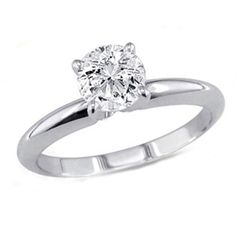 1.00 ct Round cut Diamond Solitaire Ring, G-H, VVS