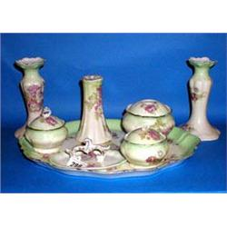 An early 20thc limoges porcelain dressing tab for Dressing amenagement limoges