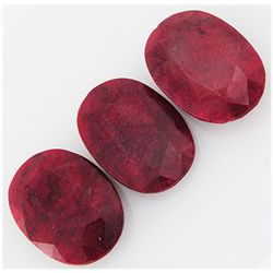 151.75ctw Ruby Oval Cut Loose Gemstone lot of 3