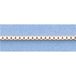 "Pure Gold 16"" 14k Gold-Yellow/White 1.7g Box Chain"