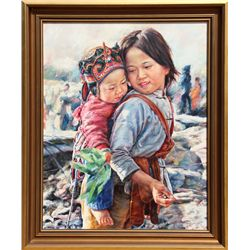 Wai Ming, Let's go to the Market, Oil Painting