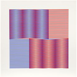 Carlos Cruz-Diez, Induction Chromatique 1, Screenprint