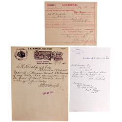 McKnight Indian Trader Documents MT - , - 1882, 1886, 1894 - Americana/Paper/Ephemera