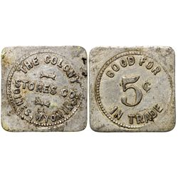 Colony Stores Co. Token WY - Dines,Sweetwater County -  -