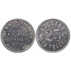 Winton Trading Co. Token WY - Meagaeth,Sweetwater County -  -