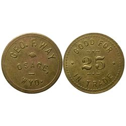 Osage Token WY - Osage,Weston County -  -