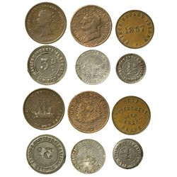 Canadian Half Penny and English Token Canada -  -  - Tokens