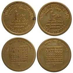 Anillo Industries Tokens CA - Orange,Orange County - 1969 - Tokens