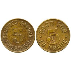 Scotties Saloon Token CA - Porterville,Tulare County -  -