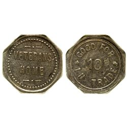 Veterans Home Token CA - Veterans Home, - c1900-1920 - Tokens