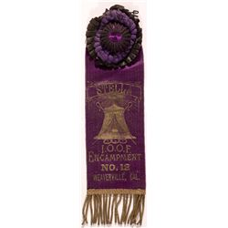 California IOOF Parade Ribbon CA - Weaverville, -  -