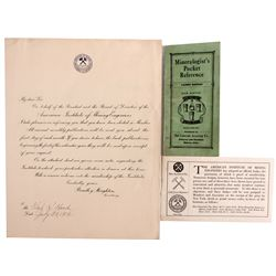 Mining Ephemera CO - , - 1916 -