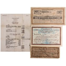Stock Certificate Group CO - , - c1930s-40s -
