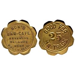 Son's Bar Café Token CO - Holly,Prowers County - c1910 -