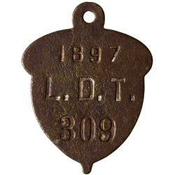 Leadville Dog Tag CO - Leadville,Lake County - 1897 -