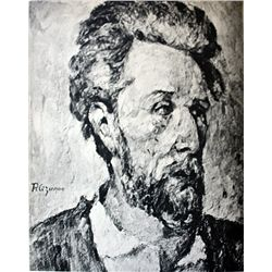 Original Signed Lithograph by Artist Paul Cezanne