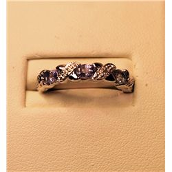 Ladies Stunning Tanzanite & Diamond Ring