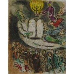 Marc Chagall  Moses & The 10 Commandments