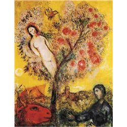 "Marc Chagall ""Tree Over Village"""