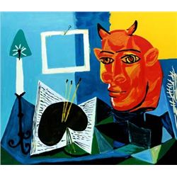 Picasso  Still Life With Red Headed Minotaur