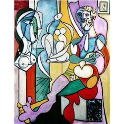 "Picasso ""Artist With Sculptor"""