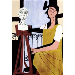 Picasso  Woman With Sculpture