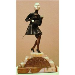 "Chiparus - ""The Gentleman"" - Bronze And Ivory Sculpture"